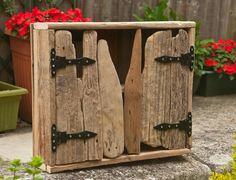 Rustic driftwood cupboard made by Chris Ford