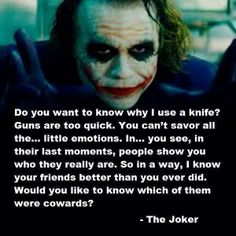 Wow the joker is messed up