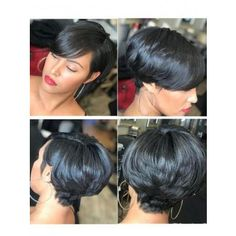 Doubleleafwig Gorgeous Short Pixie Cut Lace Front Human Hair Wig Brazilian Virgin Hair Dream HD Lace Wig With Pre Made Hairline&Bleached Knots Short Sassy Hair, Short Hair Cuts, Short Hair Styles, Short Pixie, Pixie Cuts, Short Black Hairstyles, Relaxed Hair, Hair Dos, Gorgeous Hair
