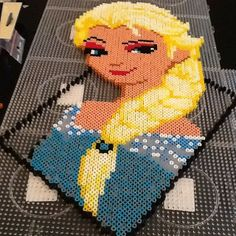 Elsa Frozen hama perler beads by majken25  - i would pay for this...