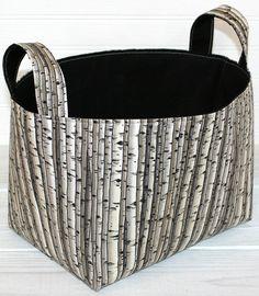 Organizer Basket Storage Fabric Bin Container - Birch Trees