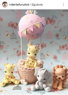 Fine Porcelain China Diane Japan Value Info: 3174949491 Cake Topper Tutorial, Fondant Tutorial, Pink Sweets, Fondant Cake Toppers, Fondant Cupcakes, Cupcake Toppers, Fondant Animals, Polymer Clay Figures, Sugar Art