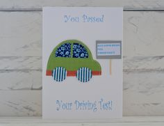 You passed your driving test card - personalised £2.50