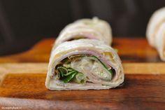 3 x wraps ham Ham Wraps, Lunch Wraps, Mini Foods, Wrap Sandwiches, Canapes, Fresh Rolls, Finger Foods, Sushi, Bbq