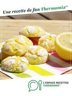 Craquelés au citron par Mimi1989. Une recette de fan à retrouver dans la catégorie Pâtisseries sucrées sur www.espace-recettes.fr, de Thermomix®.