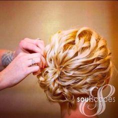 Curly updo...bridesmaid hair?