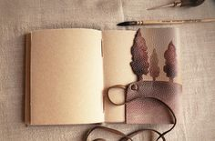 personalized leather journal custom monogram vintage style