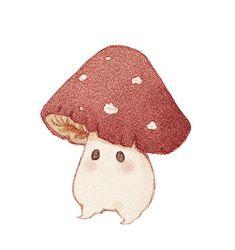 Mushroom Drawing, Mushroom Art, Kawaii Drawings, Cute Drawings, Animal Drawings, Dessin Old School, Arte Sketchbook, Hippie Art, Aesthetic Art