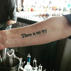 Do or do not. There is no try. This bartender's tattoo captures the spirit. #motivation #inspiration #work #brunch #hotel #travel #Newyorkcity #nyc #LowerEastSide #LES #tattoo #ink by selimniederhoffer