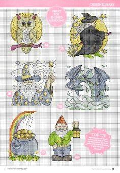волшебство волшебник радуга сова миниатюрка