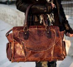 Antique cowhide handbag! Love it:)