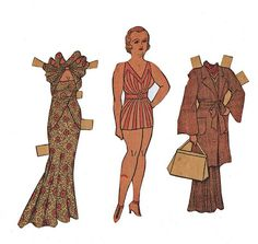Cluttershop paper dolls on flickr