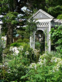 Moon Gardens:  A #Moonlight #Garden consists of annuals for constant summer blooms, perennials for year to year beauty, and silvery-grey foliage.