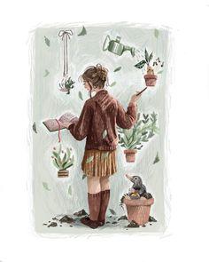 Annabianca-illustration Flora and Fauna Hufflepuff