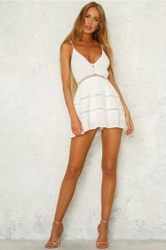 76dc9a346e An Exit Away Playsuit White White Playsuit