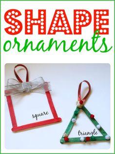 Cute ornaments that reinforce shape recognition!