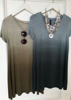Ombré t shirt dresses #swoonboutique