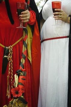 Witches at a Handfasting #wicca #handfasting