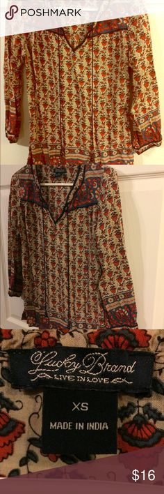 Lucky top NWOT   Very nice top  long sleeve  size X small Ships same or next day       offers welcome Lucky Brand Tops Blouses
