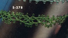 Tatted Edging No. S278 Pattern from Edgings for All Purposes, Clark's O.N.T. J Coats, Book No. 288, in 1952.