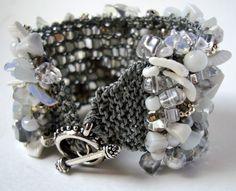 Statement Bracelet / Wedding Cuff Bracelet / by lapisbeach on Etsy