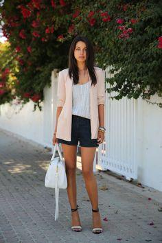 Truth  Pride blazer, Joie top, A.L.C. shorts, Tibi sandals, YSL bag. LOVE