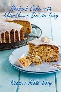 Rhubarb Cookies, Rhubarb Desserts, Rhubarb Cake, Fun Baking Recipes, Cupcake Recipes, Dessert Recipes, Mary Berry Carrot Cake, Best Rhubarb Recipes, Family Cake