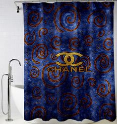 Chanel gold abstrac Shower Curtain