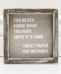 This gently distressed wall sign boasts an uplifting message framed with shabby-chic, cottage style. Full graphic text: World's greatest farter. Frames On Wall, Framed Wall, Coffee Table Plans, Uplifting Messages, Vintage Laundry, Farmhouse Signs, Guest Bath, Sign I, Wall Signs