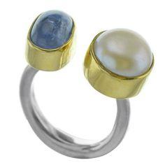 Δαχτυλίδι από ασήμι με μαργαριτάρι και πέτρα χαλαζία Napkin Rings, Silver, Chokers, Gold, Money