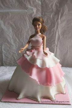 Kristin Buesing: Barbie dolly varden party cake