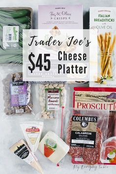 I'll show you just How To Make a Trader Joe's Cheese Platter. I've included how to choose your ingredients, how to arrange them, what kind of boards to use, and give two different price options. Meat Cheese Platters, Charcuterie And Cheese Board, Charcuterie Platter, Food Platters, Cheese Boards, Snack Platter, Appetizers For Party, Appetizer Recipes, Cheese Appetizers
