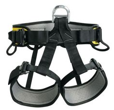 Lightweight seat harness for rescue with waistbelt and leg loops lined with breathable perforated foam for maximum comfort. Waistbelt and leg loops equipped with self-locking DoubleBack buckles for qu
