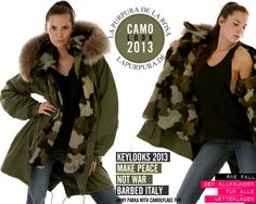 Camo Look - Make Peace not War: Vintage #Parka M65 by #BARBED, Italy