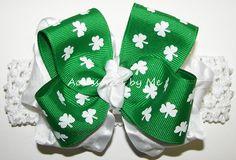 St. Patrick's Day Shamrock Bow Crochet Headband