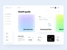 Health Guide - Web App by keomeo for Arounda on Dribbble