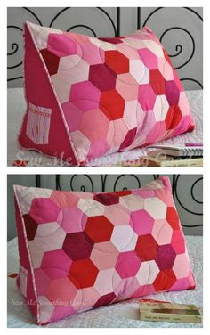 diy pillows This Backrest Pillows DIY will come in so handy. They are ideal for propping you up in bed and will be your Backs saviour. Easy Sewing Projects, Sewing Projects For Beginners, Sewing Hacks, Sewing Tutorials, Sewing Crafts, Sewing Patterns, Book Pillow, Reading Pillow, Heart Pillow