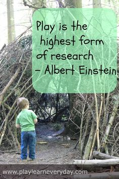 Play & Learn Everyday: Play Based Learning quote from Albert Einstein, Learning Through Play