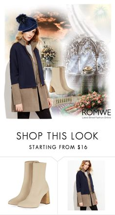 """""""Romwe coat"""" by irinavsl ❤ liked on Polyvore featuring Topshop and Black"""