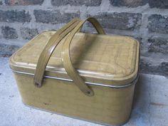 Vintage Metal Picnic Basket. $20.00, via Etsy.