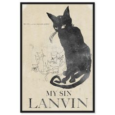 My Sin, Black Fashion and Glam Wall art by Oliver Gal. Artist Designed Cats and Kitties wall decor gives a unique style to any Living Room or space in your home. Huge artwork selection for every style. Free Shipping in the US All Black Cat, Black And Brown, Canvas Wall Art, Canvas Prints, Thing 1, Oliver Gal, Moose Art, Art Pieces, Fine Art Prints
