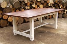 Reclaimed Wood Farmhouse Trestle Table by WonderlandWoodworks, $650.00