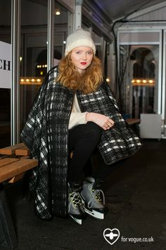 Fashionistable and Lily Cole Ice Skating in London