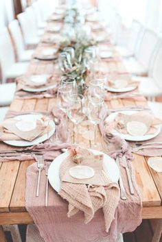 casual pink tablescape