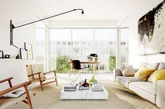 瑞典14坪簡約陽光公寓 by Alexander White - DECOmyplace