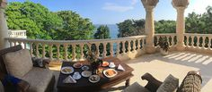 Balcony breakfast.