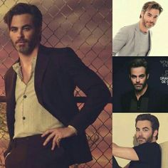 The handsome Chris Pine.