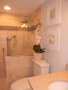 Doorless Shower Design, Pictures, Remodel, Decor and Ideas - page 24