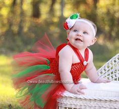 Make her Christmas all the more merry and bright with this holiday girl's halter tutu dress from Beautiful Bows Boutique. Custom handmade by a seasoned artisan, it features... #tutudress #babytutu #newborntutu #tutuskirt #babygirl #sale ➡️ http://jto.li/edHjm