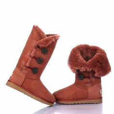 ▫◈▣◐◑‡➹ Ugg Bailey Button Triplet Boots 1873 Brick red ,▁▂▃ Prepared For this Christmas Holiday`. Ugg Boots Sale, Ugg Boots Cheap, Classic Ugg Boots, Ugg Classic, Sheepskin Ugg Boots, Girls Ugg Boots, Boots Women, Uggs For Cheap, Buy Cheap